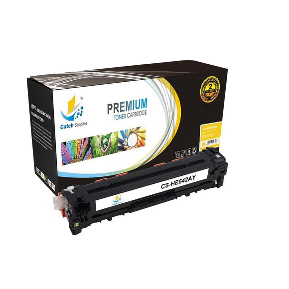 Catch Supplies Replacement HP CB542A Standard Yield Toner Cartridge