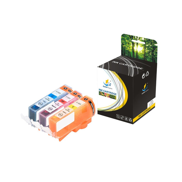 Catch Supplies Replacement Canon CLI221C, CLI221M, CLI221Y High Yield Ink Cartridge Ink Cartridge - Three Pack