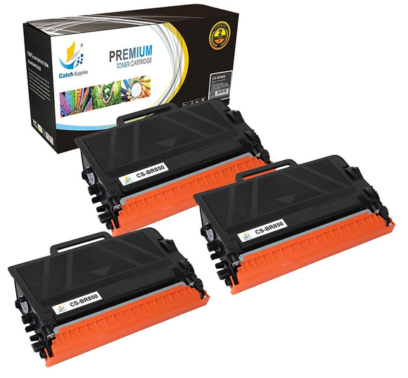 Catch Supplies Replacement Brother TN850 Standard Yield Black Toner Cartridge Laser Printer Toner Cartridges - Three Pack