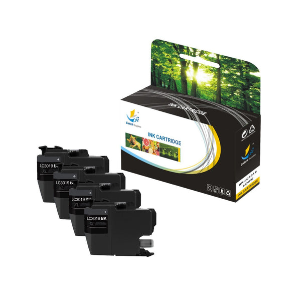 Catch Supplies Replacement Brother LC3019BK High Yield Ink Cartridge Ink Cartridge - Four Pack