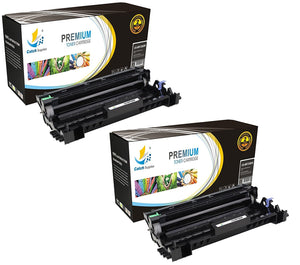 Catch Supplies Replacement Brother DR-720 Compatible Drum Unit Laser Printer Toner Cartridges - Two Pack