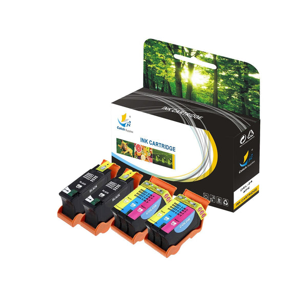 Catch Supplies Replacement Dell DEL-24 High Yield Ink Cartridge - 4 pack