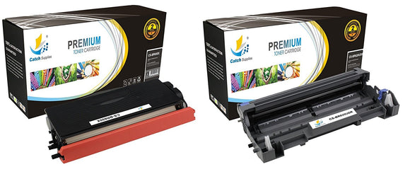 Catch Supplies Replacement Combo pack of 1 TN650 Toner Cartridge and 1 DR620 Drum Unit
