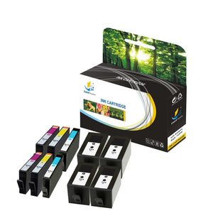 Catch Supplies Replacement HP 934XL 935XL C2P23AN, C2P24AN,C2P25AN, C2P26AN High Yield Ink Cartridge - 10 Pack