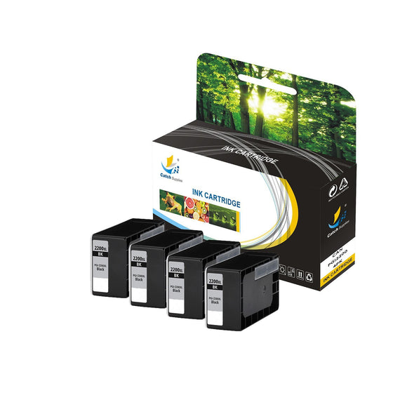 Catch Supplies Replacement Canon CLI-221 High Yield Ink Cartridge - 4 Pack