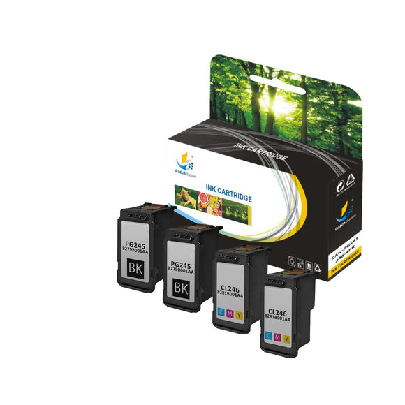 Catch Supplies Replacement Canon CL246 High Yield Ink Cartridge Ink Cartridge - Four Pack