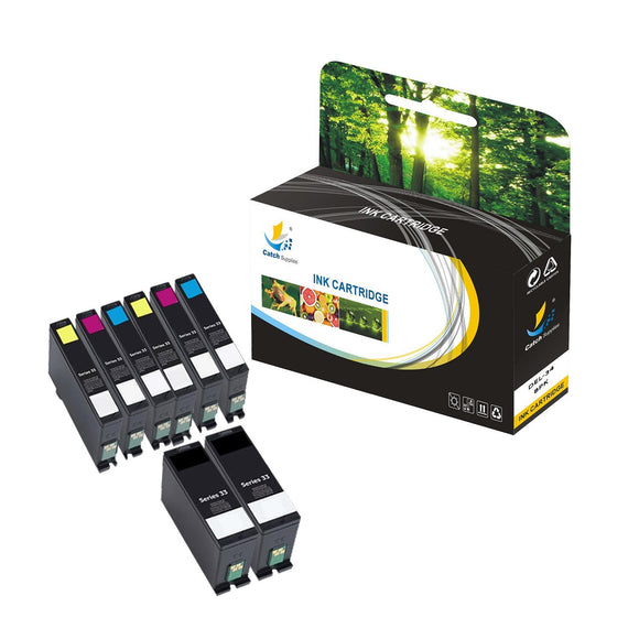 Catch Supplies Replacement Dell DEL-34 High Yield Ink Cartridge - 8 Pack