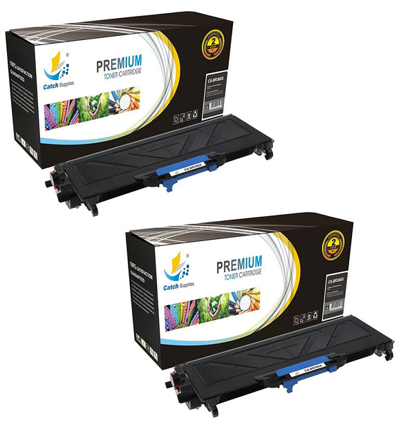Catch Supplies Replacement Brother TN-360 Jumbo Yield Black Toner Cartridge Laser Printer Toner Cartridges - Two Pack