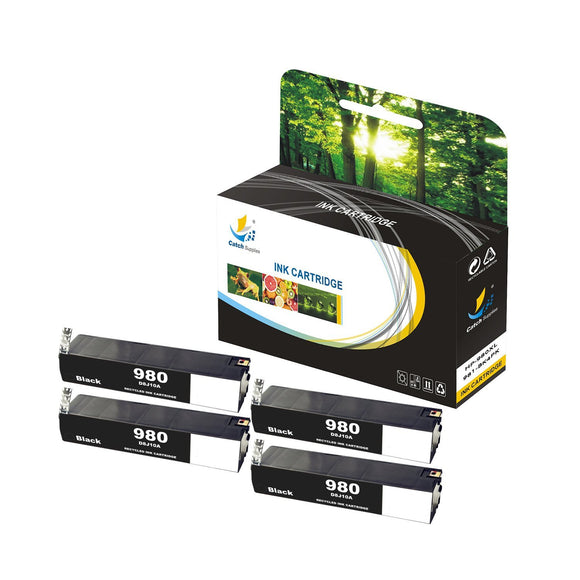Catch Supplies Replacement HP 980XL  High Yield Ink Cartridge  - 4 Pack