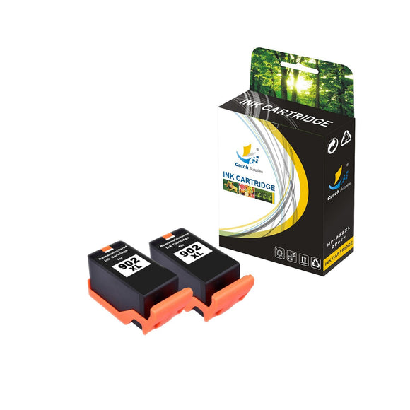 Catch Supplies Replacement HP 902XL T6M14AN High Yield Ink Cartridge - 2 Pack