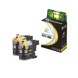 Catch Supplies Replacement Brother LC107BK High Yield Ink Cartridge Ink Cartridge - Two Pack