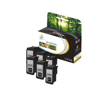 Catch Supplies Replacement Canon PG245 XL 8278B001AA High Yield Ink Cartridge - 6 Pack