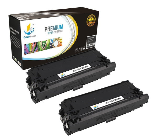 Catch Supplies Replacement CF360X – 508X High Yield Black Toner Cartridge 2 Pack Set
