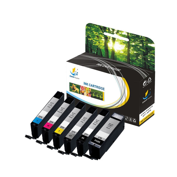 Catch Supplies Replacement Canon PGI-270, CLI-271 High Yield Ink Cartridge - 6 Pack