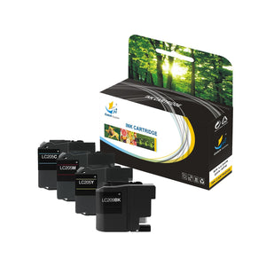 CATCH SUPPLIES REPLACEMENT LC209 LC205 INK CARTRIDGE 4 PACK SET