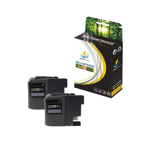 CATCH SUPPLIES REPLACEMENT LC20E INK CARTRIDGE 2 PACK SET
