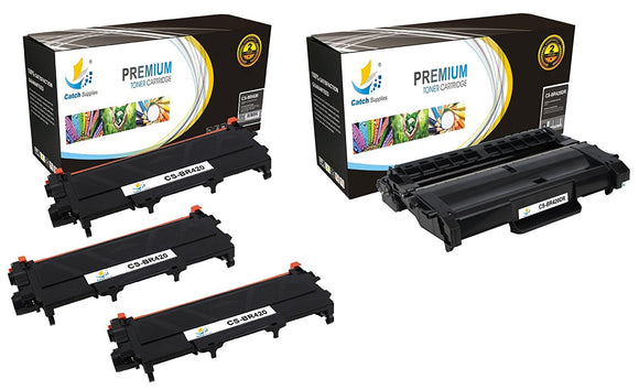 Catch Supplies Replacement Combo pack of 3 TN420 Toner Cartridges and 1 DR420 Drum Unit