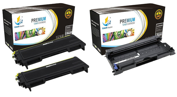 Catch Supplies Replacement Combo pack of 2 TN350 Toner Cartridges and 1 DR350 Drum Unit