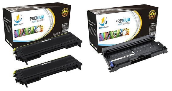 Catch Supplies Replacement Combo pack of 2 TN350 Jumbo Yield Toner Cartridge and 1 DR350 Drum Unit