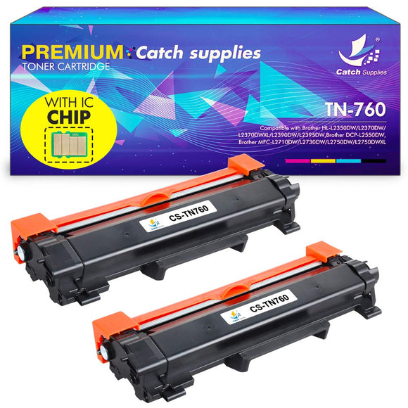 Catch Supplies with Chip Compatible TN730 TN-730 Toner Cartridge Replacement for Brother TN760 TN-760 HLL2350DW HLL2395DW DCPL2550DW MFCL2710DW HLL2390DW MFCL2750DW HLL2370DW HLL2370DWXL MFCL2750DWXL