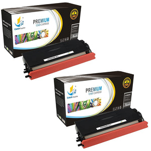 Catch Supplies Replacement Brother TN-650 Jumbo Yield Black Toner Cartridge Laser Printer Toner Cartridges - Two Pack