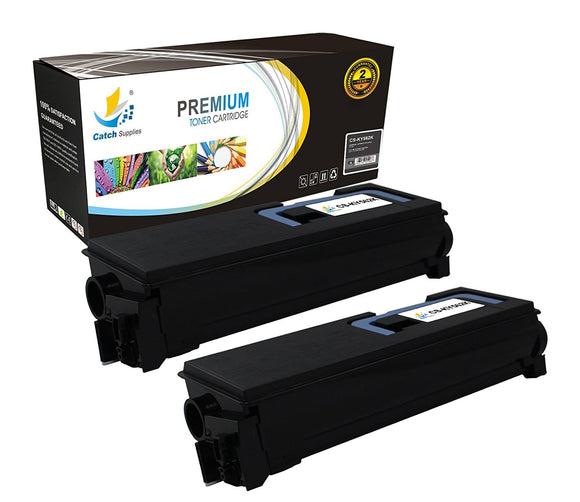 Catch Supplies Replacement Kyocera TK-562K Standard Yield Laser Printer Toner Cartridges - Two Pack