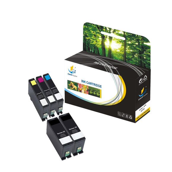 Catch Supplies Replacement Dell DEL-34 High Yield Ink Cartridge - 5 Pack