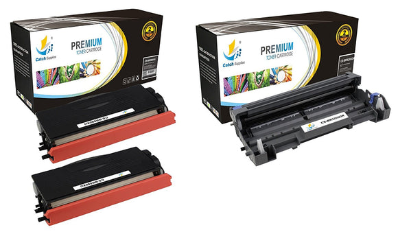 Catch Supplies Replacement Combo pack of 2 TN580 Toner Cartridges and 1 DR520 Drum Unit