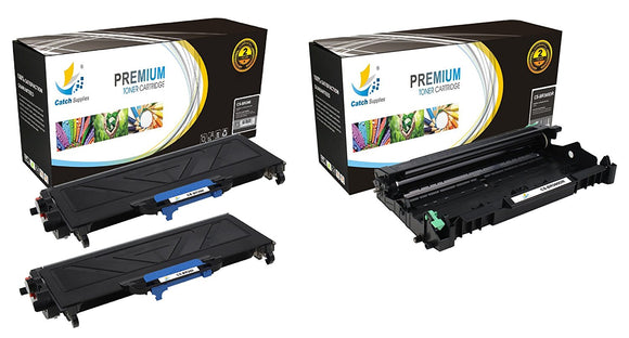 Catch Supplies Replacement Combo pack of 2 TN360 Jumbo Yield Toner Cartridge and 1 DR360 Drum Unit