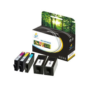Catch Supplies Replacement HP 934XL 935XL C2P23AN, C2P24AN,C2P25AN, C2P26AN High Yield Ink Cartridge - 5 Pack