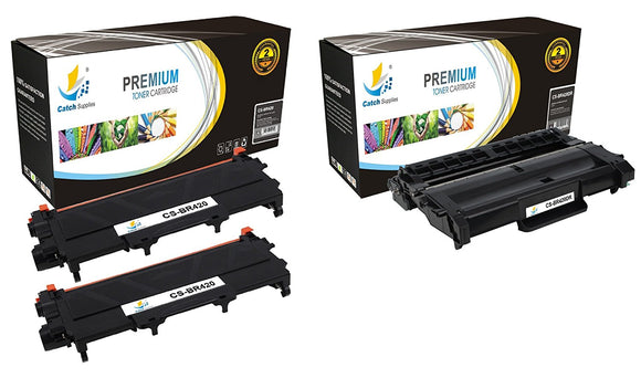 Catch Supplies Replacement Combo pack of 2 TN420 Toner Cartridges and 1 DR420 Drum Unit