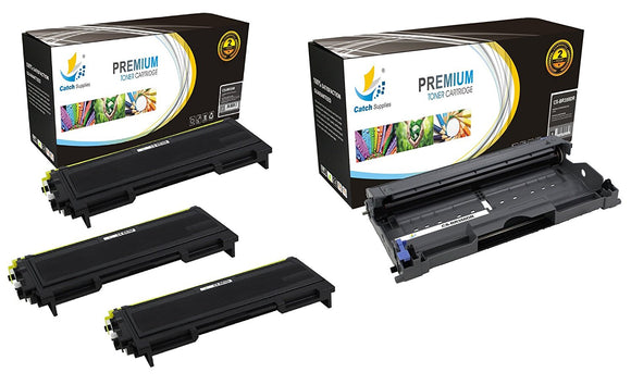 Catch Supplies Replacement Combo pack of 3 TN350 Toner Cartridges and 1 DR350 Drum Unit