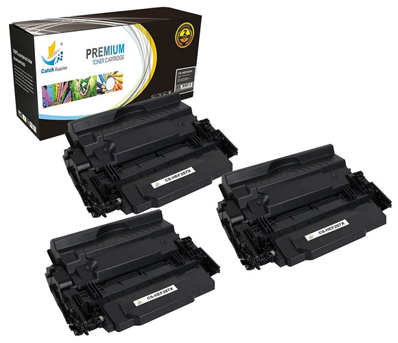 Catch Supplies Replacement HP CF287X High Yield Black Toner Cartridge Laser Printer Toner Cartridges - Three Pack
