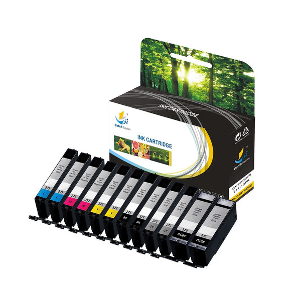 Catch Supplies Replacement Canon PGI-270, CLI-271 High Yield Ink Cartridge - 12 Pack
