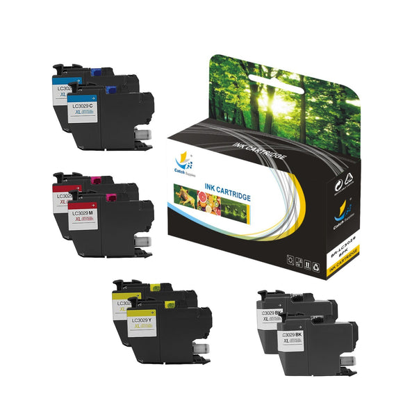 Catch Supplies Replacement Brother LC3029BK, LC3029C, LC3029M, LC3029Y High Yield Ink Cartridge Ink Cartridge - Eight Pack