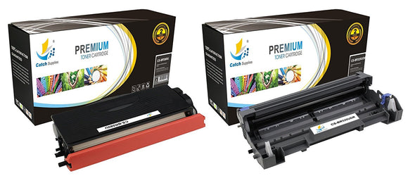 Catch Supplies Replacement Combo pack of 1 TN580 Toner Cartridge and 1 DR520 Drum Unit