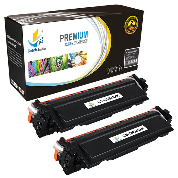 Catch Supplies Replacement Canon 046HK High Yield  Toner Cartridge - 2 Pack