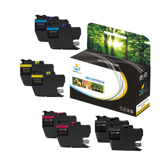 CATCH SUPPLIES REPLACEMENT LC3019 INK CARTRIDGE 8 PACK SET