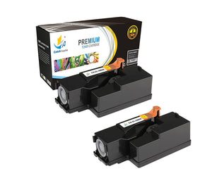 Catch Supplies Replacement C1660BK Black Toner Cartridge 2 Pack Set