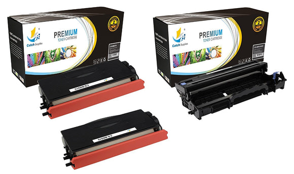 Catch Supplies Replacement Combo pack of 2 TN570 Toner Cartridges and 1 DR510 Drum Unit