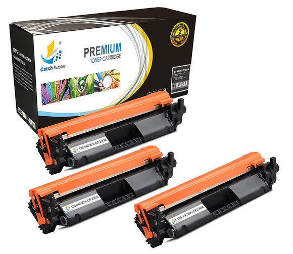 Catch Supplies Replacement HP HP-30X Standard Yield Toner Cartridge - 3 Pack