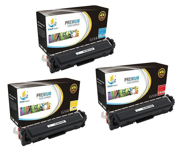 Catch Supplies Replacement HP CF411X, CF412X, CF413X High Yield Toner Cartridges Laser Printer Toner Cartridges - Three Pack