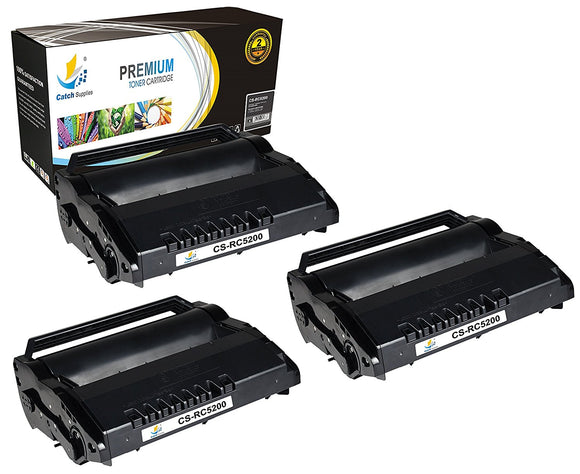 Catch Supplies Replacement Ricoh 406683 Standard Yield Black Toner Cartridge Laser Printer Toner Cartridges - Three Pack