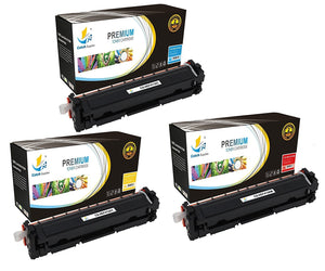 Catch Supplies Replacement HP CF411A, CF412A, CF413A Standard Yield Laser Printer Toner Cartridges - Three Pack