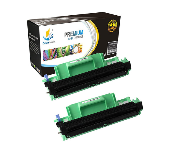 Catch Supplies Replacement Brother DR-1060 Compatible Drum Unit Laser Printer Toner Cartridges - Two Pack