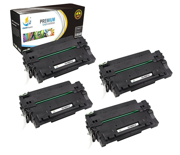 Catch Supplies Replacement HP Q6511A Standard Yield Laser Printer Toner Cartridges - Four Pack