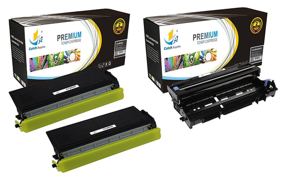 Catch Supplies Replacement Combo pack of 2 TN460 Toner Cartridges and 1 DR400 Drum Unit