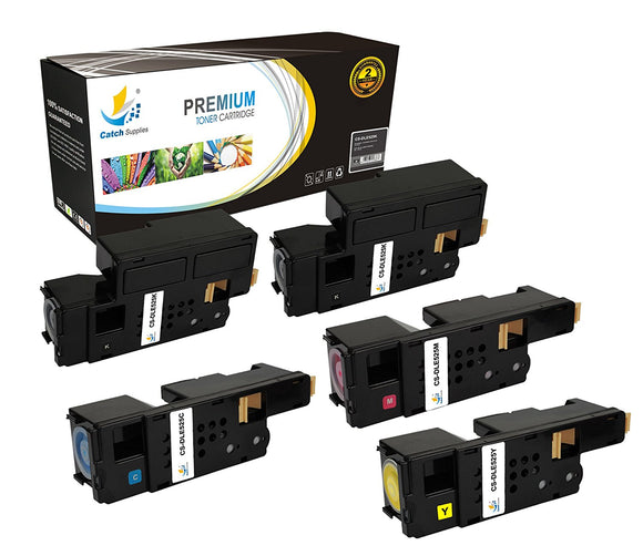 Catch Supplies Replacement Dell E526 High Yield Toner Cartridge - 5 Pack