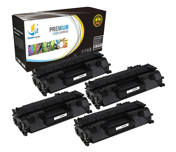 Catch Supplies Replacement HP CF280X Jumbo Yield Black Toner Cartridge Laser Printer Toner Cartridges - Four Pack