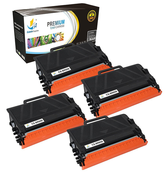 Catch Supplies Replacement Brother TN850 Standard Yield Black Toner Cartridge Laser Printer Toner Cartridges - Four Pack